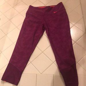 Nike tight light purple workout pants